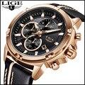 Топ люксовый бренд LIGE 2018 новые мужские уличные спортивные кварцевые часы мужские автоматические часы для свиданий мужские модные водонепр...