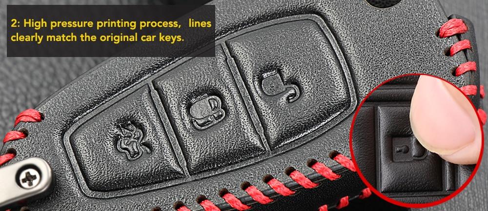 Автомобильный стиль кожаный ключ дистанционного ключа брелок чехол для Ford Fiesta Focus 3 4 MK3 MK4 Mondeo Ecosport Kuga Focus ST