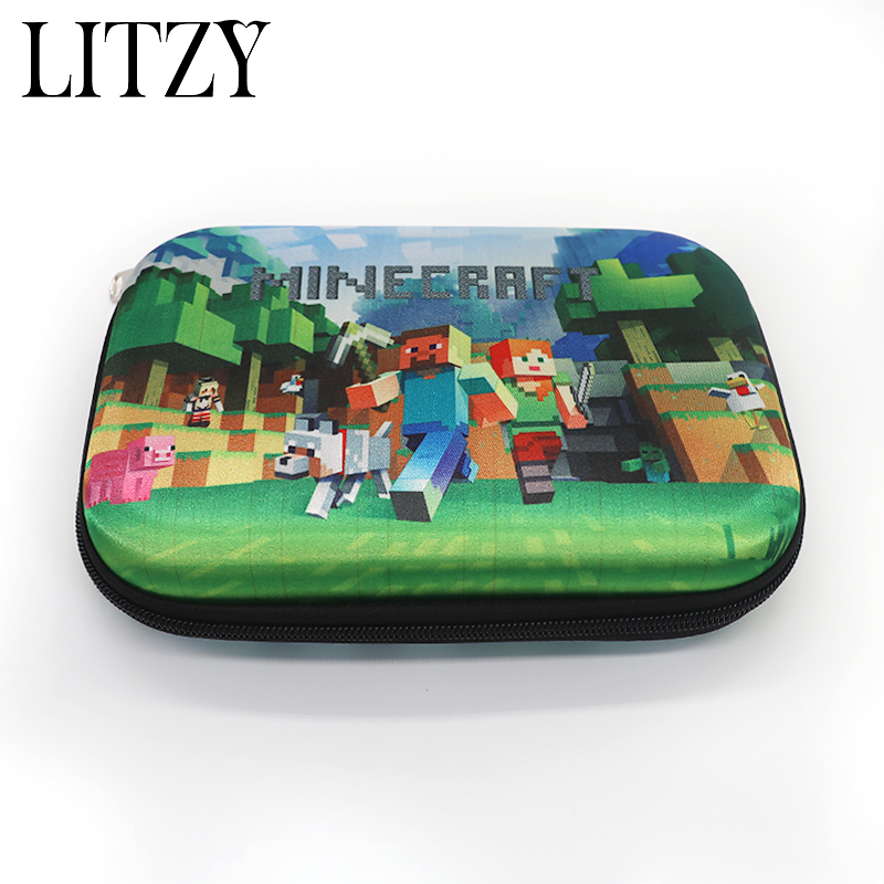 Minecraft Pencil Case for Girls Boys Multifunction Pencil Bag Big Capacity EVA Materials Pencilcase School Supplies Stationery minecraft pencil case for boys pencil case multifunction pencil box big capacity pencil bag school supplies bts stationery gift