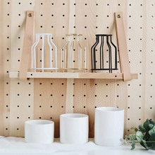 Minimalist Iron Ceramic Vase Creative Home Living Room Decor Hydroponic Container Flower Vase Tabletop Ornaments 1piece