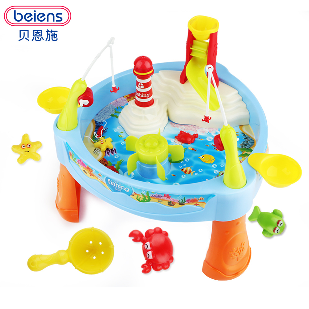 Beiens diy fishing toy games fishing plastic toy magnetic for Piscinas toy