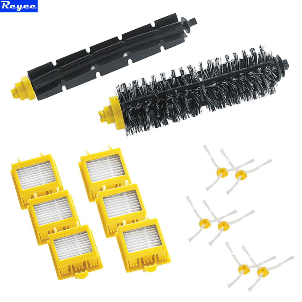 14Pcs Hepa Filters Bristle Brush Flexible Beater Brush 3-Armed Side Brush Pack Set for iRobot Roomba 700 Series 760 770 780 790