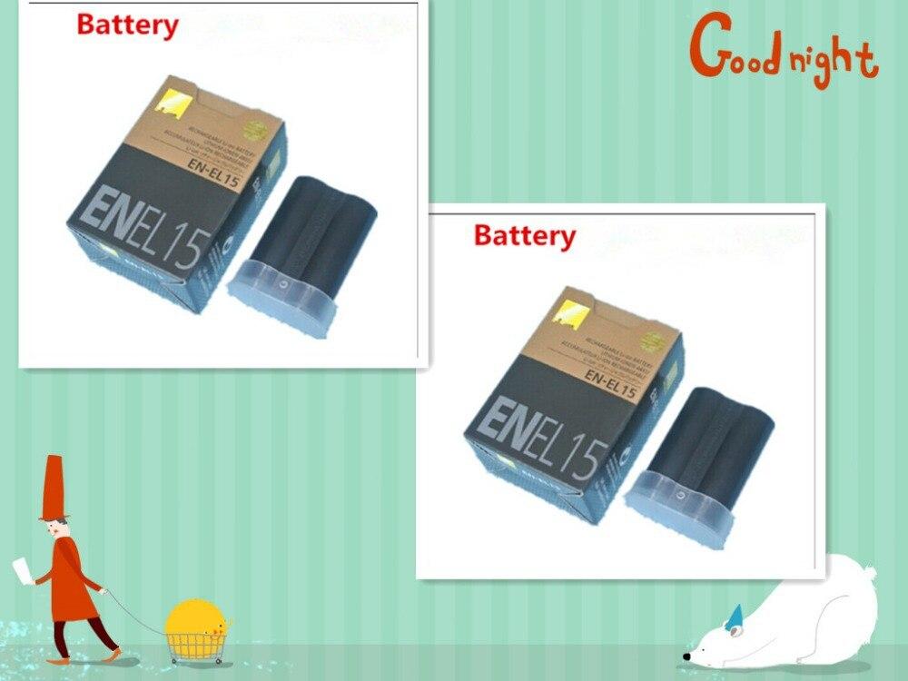 2 Шт. Цифровые Батареи EN EL15 EN-EL15 ENEL15 Аккумулятор Для Камеры Nikon D600 D610 D810 D7000 D7100 D800 D800E D600E D750 V1 MH-25