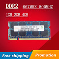 Hynix 1gb 2gb 4gb DDR2 667 800 667mhz 800mhz PC2-5300 PC2-6400 1g 2g sodimm so-dimm sdram Memory Ram Memoria For Laptop Notebook