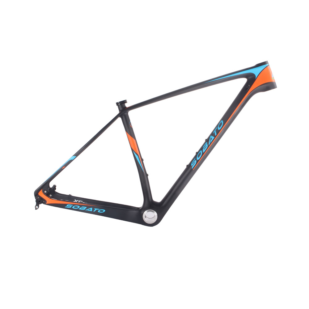 New arrival 29*15/17/18/20 Mountain bike full carbon fibre frame carbon bicycle frames 29er MTB bike parts many colors track frame fixed gear frame bsa carbon 1 1 2to 1 1 8 bike frameset with fork seatpost road carbon frames fixed gear frameset