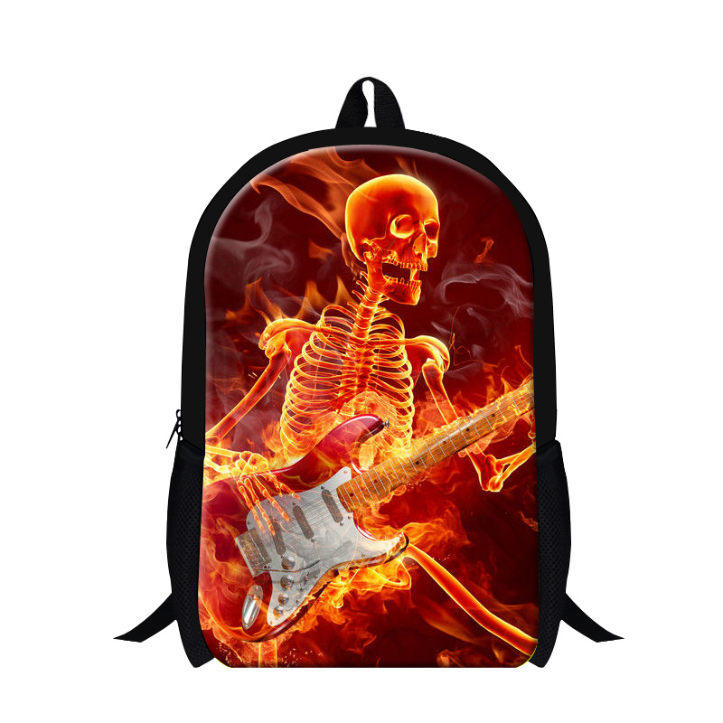 cool book bags for teens red skull dancing boy backpacks for school popular schoolbag children day pack school bags for girls