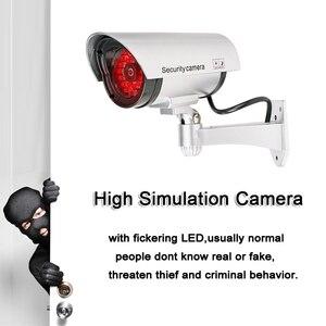 Image 2 - Fake Dummy CCTV Camera Bullet Waterdichte Outdoor Indoor Beveiliging Surveillance Camera Solar Met Led Licht Gratis Verzending