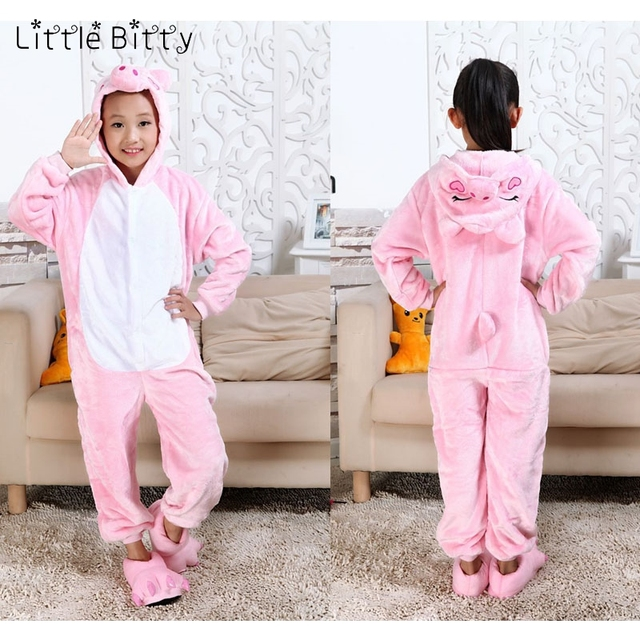 Маленькая Битти детская розовая свинья кигуруми пижамы детские хлопковые с  длинным рукавом для девочек животных Тигр 04ac5f38f2361