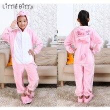 Маленькая Битти детская розовая свинья кигуруми пижамы детские хлопковые с  длинным рукавом для девочек животных Тигр 5c127d684fe25