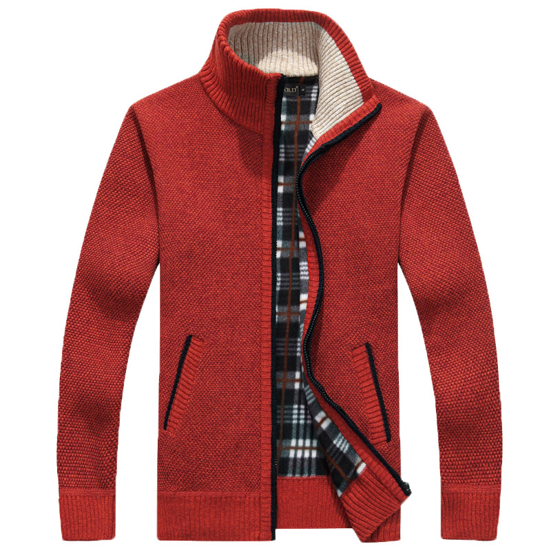 Sweaters New Arrival Autumn Men's Warm Sweaters Warm Winter Mens Cardigan Sweaters Casual Knitwear Fleece Velvet Clothing