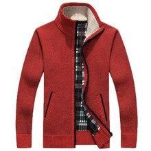 Sweaters New arrival Autumn Men's Warm Sweaters Warm Winter Mens Cardigan Sweaters Casual Knitwear Fleece Velvet Clothing