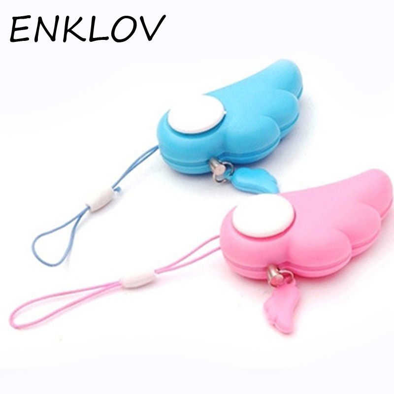 ENKLOV Personal Protection Girl Women Anti-Wolf Security Alarm Mini Loud Self Defense Su ...