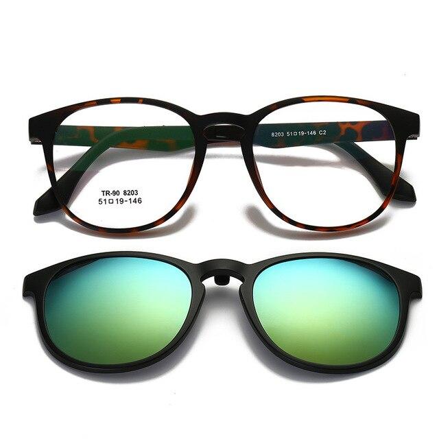 Vazrobe Unisexe Clip sur lunettes de Soleil Verres polarisés pour Hommes Femmes  Conduite Myopie Lunettes TR90 538353c6cdd3