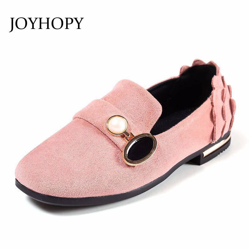 New Design Spring Autumn Girls Shoes Size 26-36 Children Party Dress Shoes Girls Cute Sweet PU Leather Flat Shoes