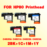 2BK 1C 1M 1Y Printhead For Hp80 C4820A C4821A C4822A C4823A For Hp 80 Print Head