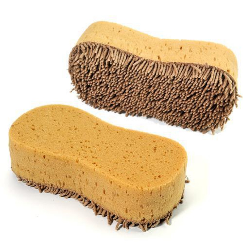 Practical Cleaning Washing Cleaner Coral Microfiber Sponge Brush For Automobiles Car Wash Detailing Car Cleaning