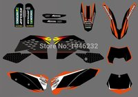 0304 NEW TEAM GRAPHIC WITH MATCHING BACKGROUNDS FOR SX SXF FULL SIZE MODEL 2007 2010 EXC