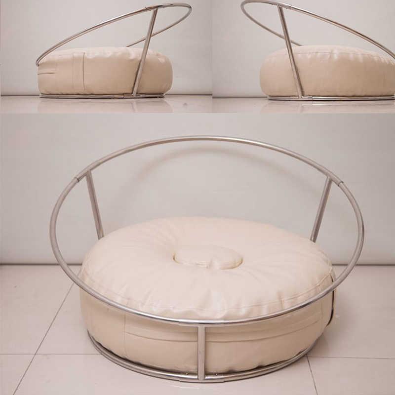 Fondo para estudio de fotografía para recién nacidos, almohada para posar en un nido, puf para recién nacido, accesorio para foto, postera infantil de 85CM, bolsa de habichuelas de gran tamaño