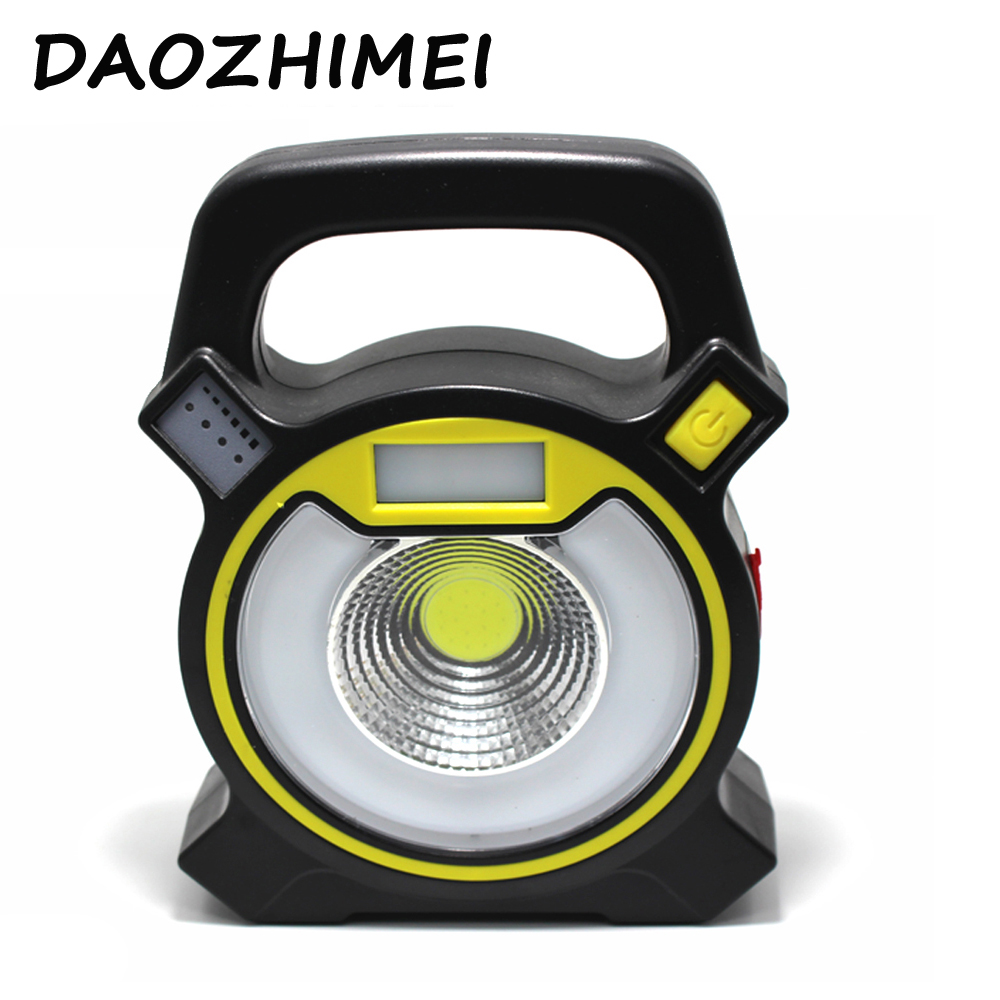 15W led cob portable spotlight lantern searchlight rechargeable handheld power by 18650 battery portable light for camping