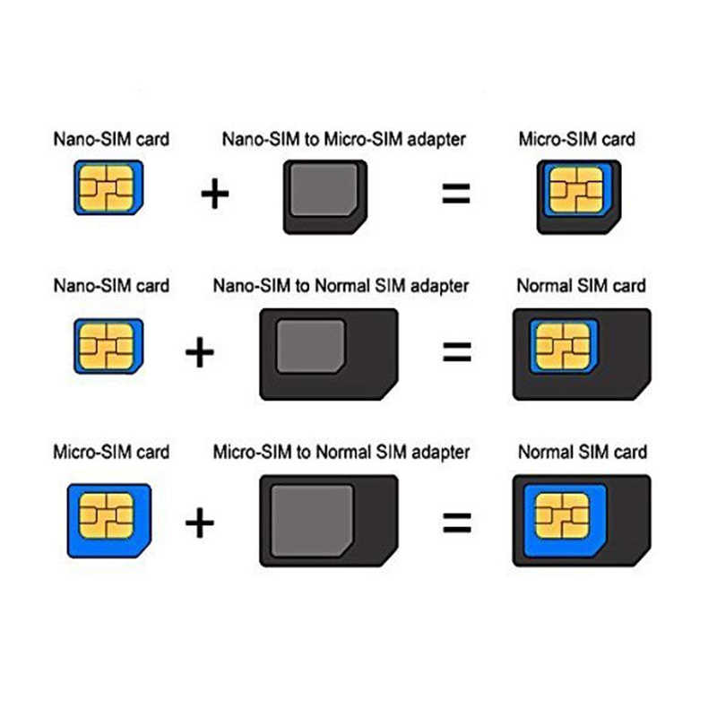 Micro NANO SIM Kartu Adaptor Konektor Kit untuk Iphone 6 7 PLUS 5S Huawei P8 Lite P9 Xiaomi Redmi note 4 Pro 3S 3 Mi5 Sims Pemegang