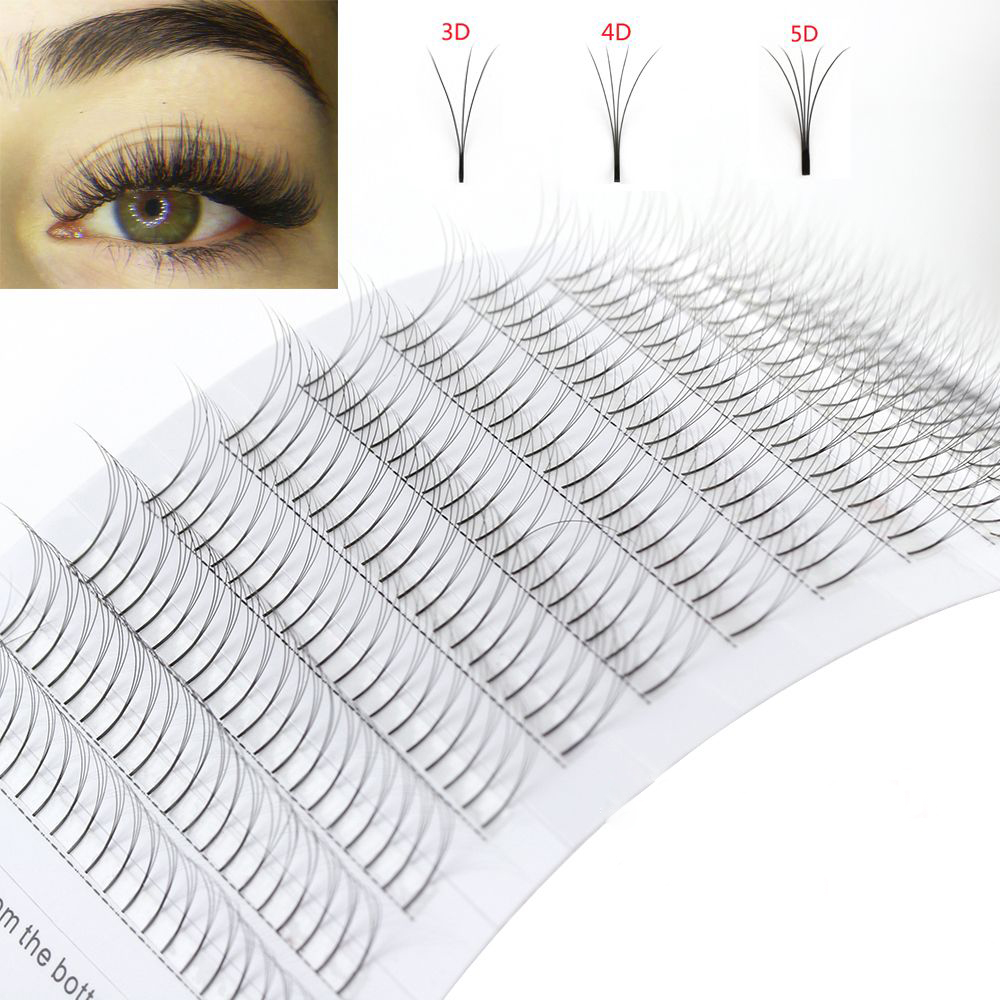 New Short Stem 4d Fans Volume Eyelash Extension Individual Premium Cilios Premade Russian Cluster Eye Makeup Tool 12lines Excellent In Cushion Effect Beauty Essentials
