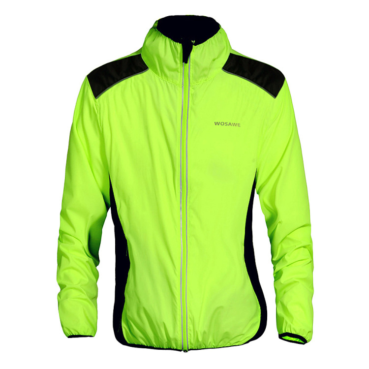 WOSAWE Bicycle Cycling Jersey Men Riding Breathable Jacket Cycle Clothing Bike Long Sleeve Winter Wind Coat