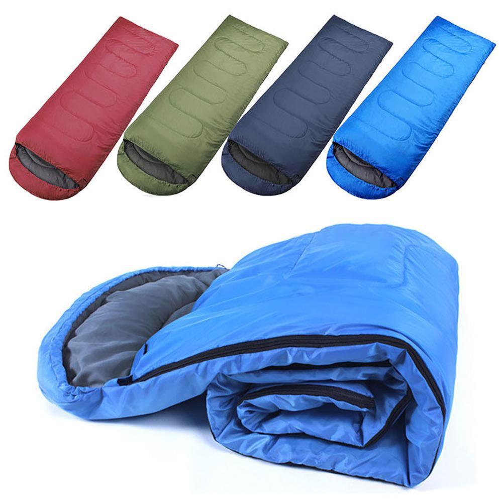 Envelope Style Waterproof Adults Sleeping Bags Hiking Fishing Camp Outdoor