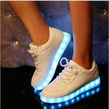 KKABBYII 7 цвет USB Зарядки Светящиеся Светодиодные Кроссовки Для Мальчика и Девочки Детские Light Up Shoes Младенческой Светодиодные Тапочки Светящиеся кроссовки