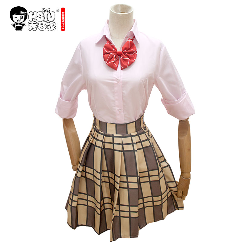Image 2 - HSIU High Quality Citrus Anime Aihara Yuzu Aihara Mei Cosplay Costumes Wig Set Short skirt Japanese style student wear    -