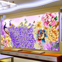 HOME BEAUTY Diy Diamond Embroidery Set Crystal Round Diamond Painting 5d Picture Of Stones Wall Decor