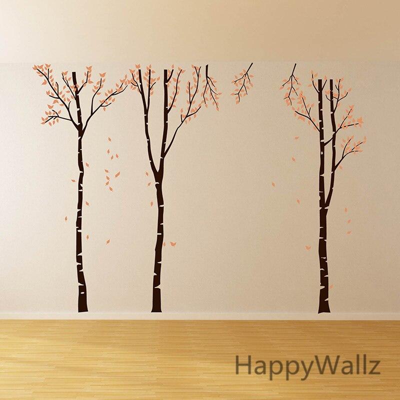 Наклейка на стену с изображением березы, семейное дерево, наклейка на стену, сделай сам, большое дерево, обои, съемная виниловая наклейка на стену T1 - 3