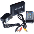 Nueva 720 P Mini HD Multi Media Video Player SD USB AV Central/MM RM/RMVB/AVI/MPEG Envío Libre con Número de la Pista 12002151