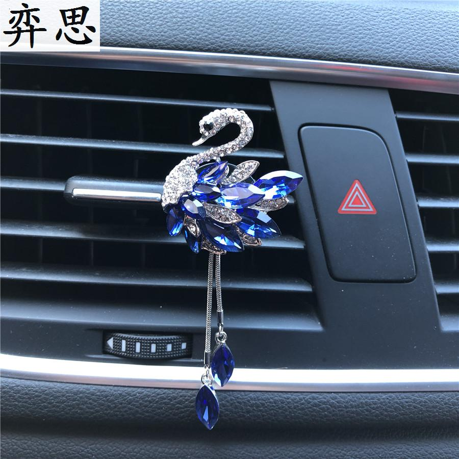 Swan Pendant shape Air conditioning outlet perfume Elegant generous car outlet perfume car air freshener styling Ornaments Clip