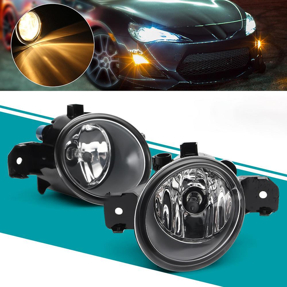 1 Pair Fog Lights 12V 55W H11 Bulbs For Nissan Altima Maxima Rogue Sentra Clear