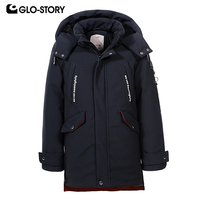 GLO STORY Teenage Kids Parkas Winter Coat with Hooded Pocket Boy Winter Jackets BMA 6809
