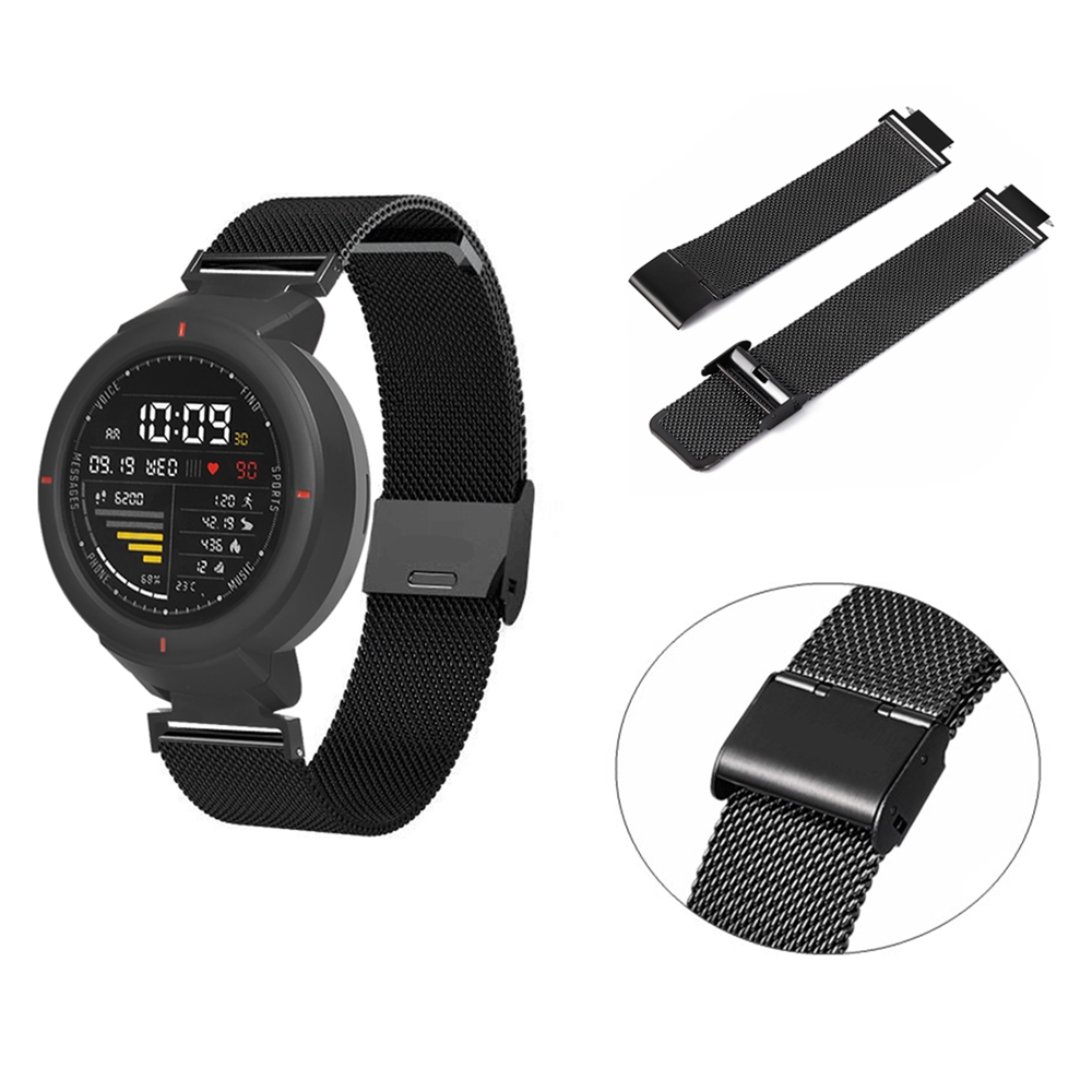 Stainless Steel Watchband For Amazfit Verge Strap Sports Metal Wristband For Xiaomi Huami Amazfit Verge 3 Bracelet Accessories|Smart Accessories| |  - title=