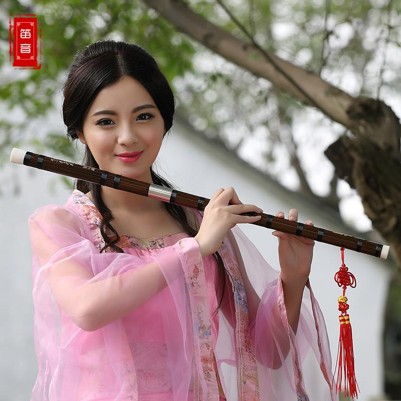 Red Dress Girl Wallpaper The Flute Instrument Professional Distinction To Play