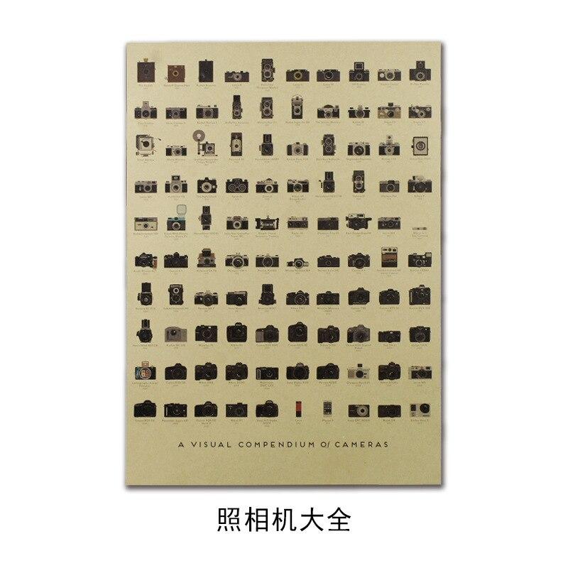 Винтажный постер Фильм Ретро аниме автомобиль плакаты и принты кофе/кухня/гостиная декоративная живопись крафт-бумага наклейки на стену - Цвет: 085