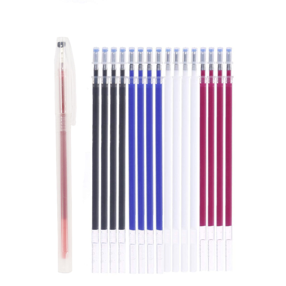 Heat Erasable Refill Pens High Temperature Disappearing Fabric Marker Pen <font><b>for</b></font> <font><b>Patchwork</b></font> Fabric PU Leather Mark Sewing <font><b>Tool</b></font> image