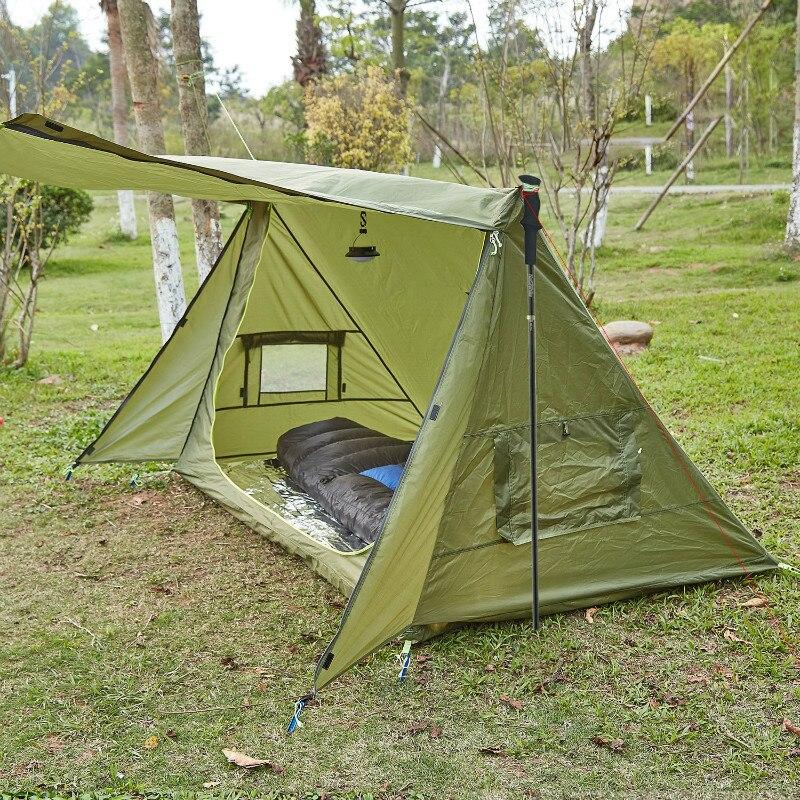 OneTigris 4 saison tente ultralégère abri pour touffes et survivalistes Camping chasse randonnée 68D Polyester taffetas