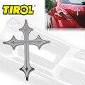 $7.99 Frete Grátis Aço Inoxidável CRUZ Bull Dog 4x4 Emblema fácil Peel & Vara Instalação Novo Carro Emblemas Do Carro adesivo