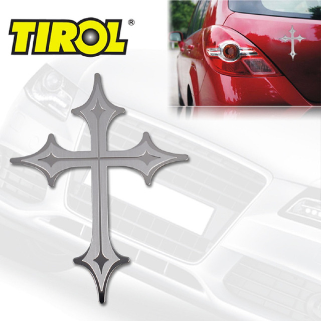 Free Shipping  Stainless Steel CROSS Bull Dog 4x4 Emblem Easy Peel & Stick Installation Brand New Car Badges Car Sticker