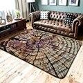 Скандинавский стиль Имитация древесины большой размер ковер для спальни журнальный столик для гостиной диван напольный коврик нескользящ...
