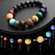 Браслет из бисера с восьмью планетами, мужской браслет из натурального камня, Вселенная, Йога, Солнечная чакра, браслет для женщин и мужчин, ювелирные изделия, подарки, Прямая поставка