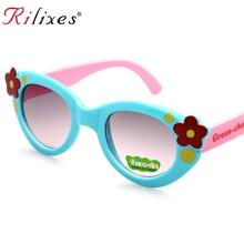 RILIXES summer Kids Sunglasses For Children Flexible  Safety