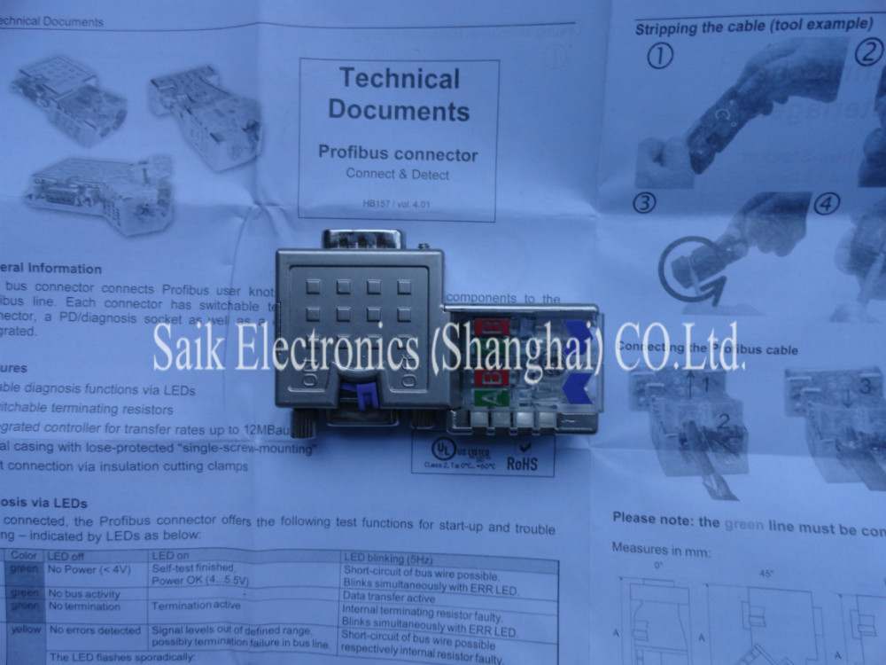 VIPA 972 0DP10 VIPA 972 0DP10 Profibus Connector 90 Degree with ...