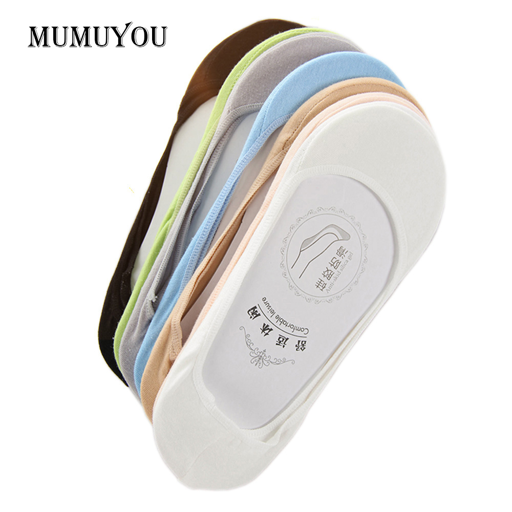 5 párů dámské krátké letní pantofle ponožky dámské neviditelné lodní ponožky dívky Footsie kůže tenká módní nízká střih obuv 037-008