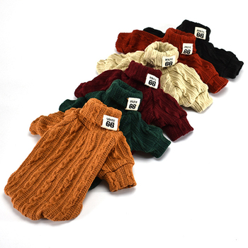 Woolen Dog Jacket in Turtleneck Design for Small Dogs as Winter Clothing