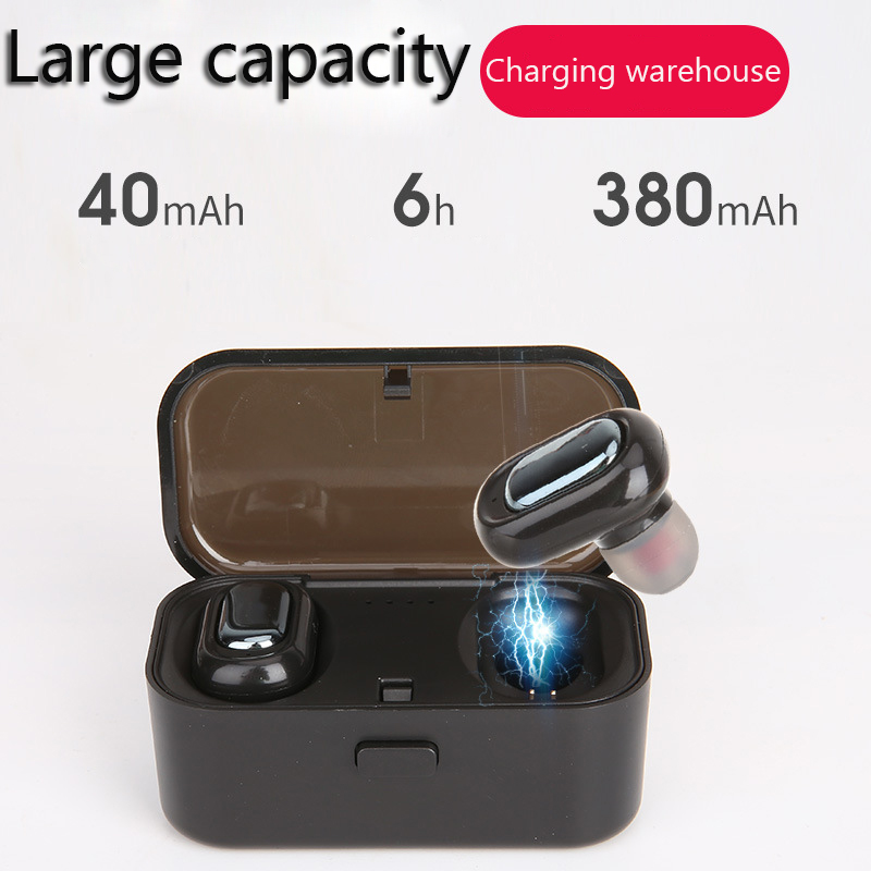 Bluetooth Earphones 5.0 TWS Mini Wireless Headset Stereo Deep Bass Earphone with Mic Charging Box for IPhone Android XIAOMI