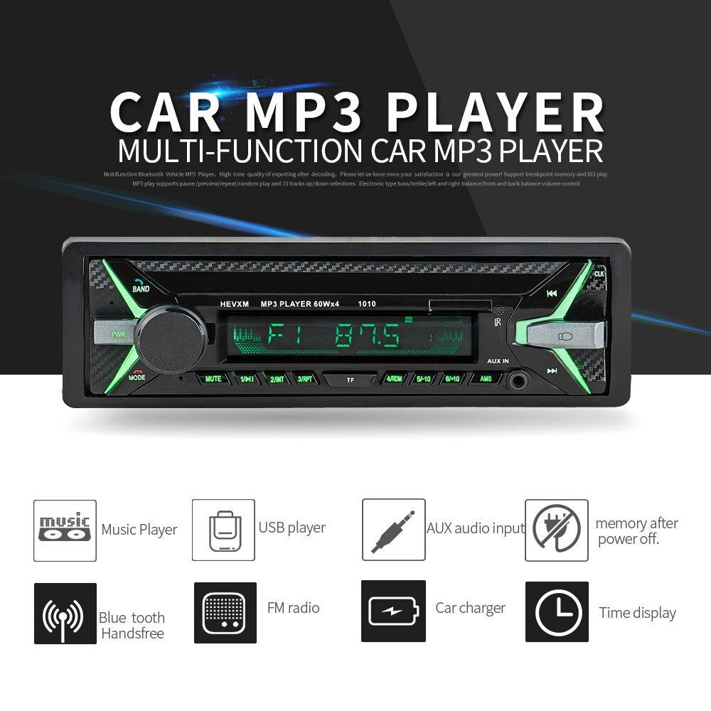 2019 populaire design ergonomique voiture stéréo Audio In-Dash Aux entrée récepteur FM SD USB MP3 Radio lecteur atmosphère haut de gamme